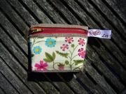 art textile mode fleurs portemonnaie lin liberty vero les petites bob : porte monnaie lin et liberty 24