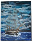 tableau marine spcbateauxgreement sylvie prevost colly : Vieux gréement des colonies