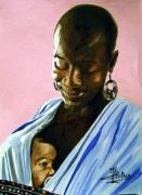 tableau personnages : femme d'afrique