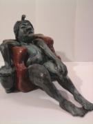 sculpture personnages sculpture terre cuite original : fauteuil pour pharaon