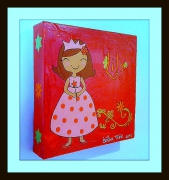 tableau personnages princesse framboise chambre petite fille : Princesse Lily