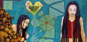 tableau personnages graphisme symbolique narrative nondualite : L'eau vive...