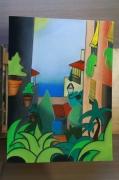 tableau villes rue espagne arbre store : Benalmadena