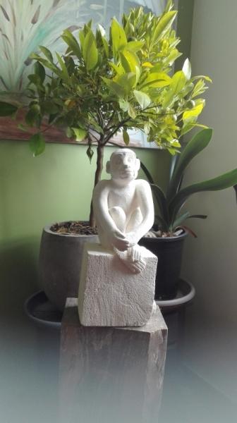 SCULPTURE singe sculpture offrir annimaux Animaux Taille Pierre  - CAPUCIN