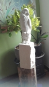 sculpture animaux scuplteur perroquet pierre sculpture : ARA