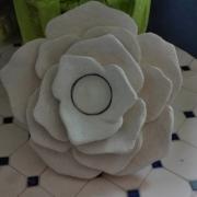 sculpture fleurs fleur bougeoire lotus : Lotus bougeoir