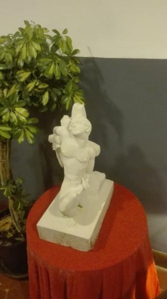 SCULPTURE st sébastien sculpture oeuvres archerie Personnages Taille Pierre  - ST SEBASTIEN
