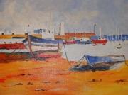 tableau marine : port de peche