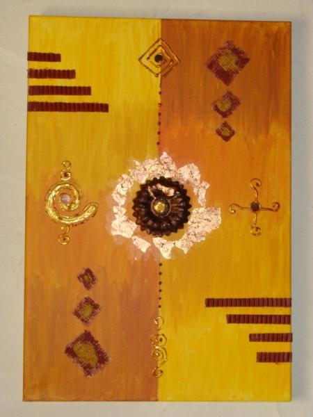 TABLEAU PEINTURE Abstrait Acrylique  - symboles