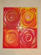 tableau abstrait : étoiles