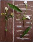 tableau fleurs : arum