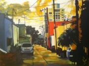 tableau paysages villes paysage latino ciel : Urbano latino
