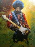 tableau personnages jimi hendrix musique chanteur guitare : Jimi Hendrix