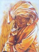tableau personnages portrait femme voyage pose : La sagesse