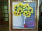 tableau fleurs normandie : les tournesols