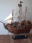bois marqueterie bateau pirate art bois : le bateau pirate