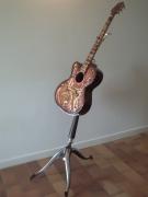 bois marqueterie autres guitare musique art bois : la guitare