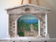 deco design paysages architecture trompe l oeil peinture art : trompe l'oeil en bois