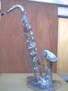 bois marqueterie autres saxophone musique art bois : les pleurs du saxo