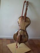 bois marqueterie violoncelle femme musique bois : la femme violoncelle