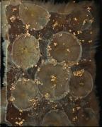 tableau abstrait resine poudres de mica col toile sur chassis : Mammon