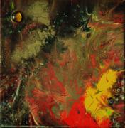 tableau abstrait abstrait toile sur chassis resine pigments : Latone