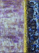 tableau abstrait abstrait acrylique mortier ponce gel de structure : Golden Dream 2