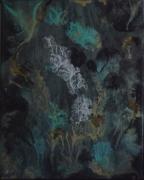 tableau abstrait abstrait encres multicolore toile sur chassis : Tout en dentelle