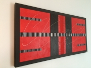 tableau abstrait rouge degrade abstrait moderne : Symétrie