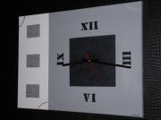 tableau autres horloge gris noir : HORLOGE1/vendu