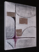 tableau abstrait texture abstrait argent : Abstraction/VENDU