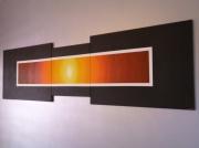 tableau abstrait chaud noir modene : VIVALDI/VENDU