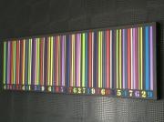 tableau abstrait code couleurs original : DE'CODE/vendu
