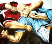 tableau sport rugby peinture tableau melee : fraternité 2