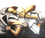 tableau sport rugby tableau peinture melee : franternité 3