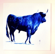 tableau autres peinture bleu tauromachie corrida : N°41