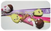 artisanat dart fruits fimo portecle gourmandises bijoux : gourmandises fimo