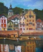 tableau paysages ciboure maison maurice ravel pays baque : Le quai Maurice Ravel à Ciboure