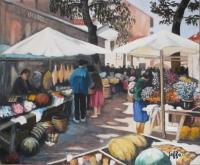 Le marché aux fleurs à St Jean de Luz