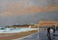 La Grand Plage de Biarritz par une marée de 115