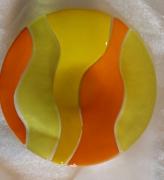 ceramique verre abstrait assiette couvert plat course : Assiette