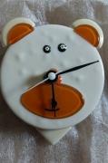 deco design animaux pendule pendulum ourson cadeau de noel : Pendule ourson