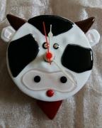 deco design animaux pendulum pendule horloge cadeau de noel : Pendule vache