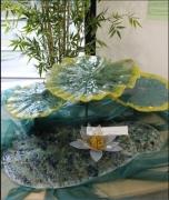 sculpture fleurs sculpture nenuphars œuvres d artist peches : LES NENUPHARS
