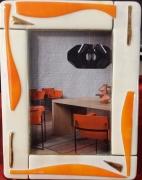 ceramique verre abstrait photo cadre encadrement cadeaux : Porte photo