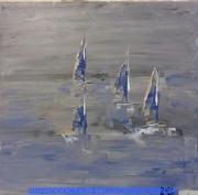 tableau marine marine voile : MARINE 1