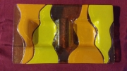 ceramique verre abstrait aperitif plat biscuit cadeaux : Plat duo