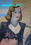 tableau personnages virginia grey peinture cinema actrice : Virginia Grey