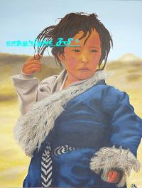 Jeune fille tibétaine