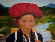 tableau personnages dao femme vietnam chjine : Femme Dao